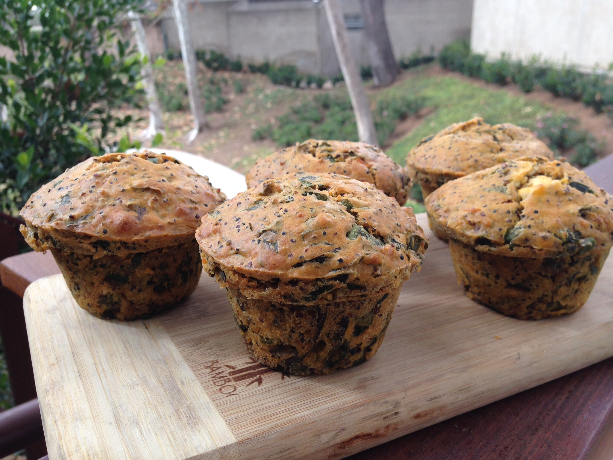 Tender Greens | Cookbook | Savory Quinoa, Chard and Feta Muffin